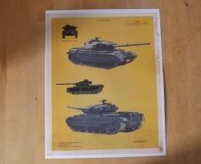 Centurion.MK9.MBT.British Army.'Individual tank recognition card.'.'Poster'